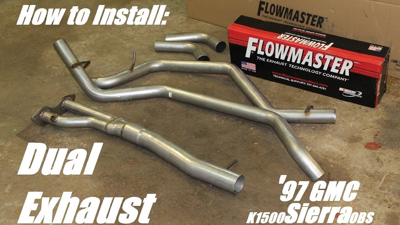 Diy flowmaster dual exhaust 97 gmc k1500 youtube diy flowmaster dual exhaust 97 gmc k1500 solutioingenieria Image collections