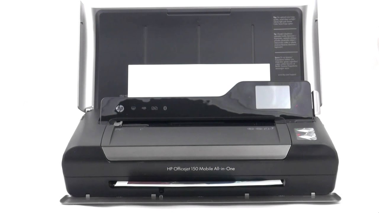 Hp Officejet 150 World S First Color Inkjet Mobile All In One Device Youtube