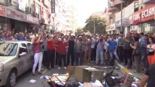 Balıkesir HDP il binasına giren grup eşyaları ateşe verdi