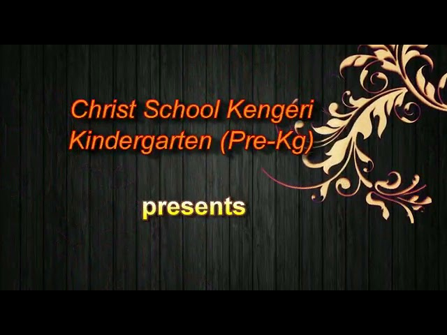 PREKG | FANCY DRESS COMPETITION THEME - BEST OUT OF WASTE | CHRIST SCHOOL KENGERI