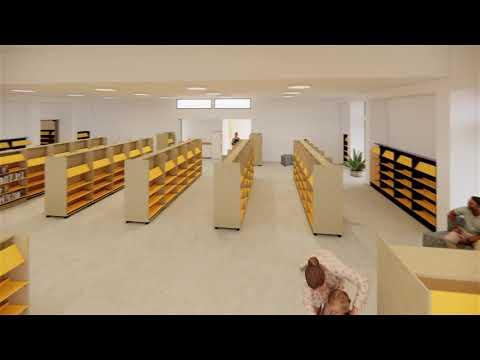 Yankalilla Library Walkthrough Video Interior Concept Starting At The Deck