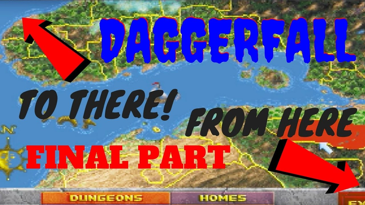 How Big Is The Map In Daggerfall Walk Across The Map Final Part