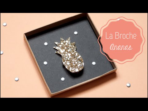 DIY Mode ♡ La broche Ananas