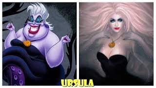 Disney Villains Characters in Beauty Vesions