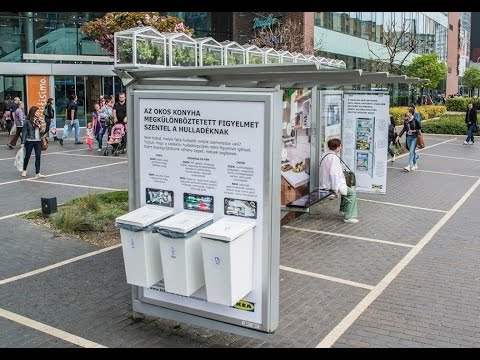 IKEA goes green with a bus shelter in Budapest | JCDecaux Hungary