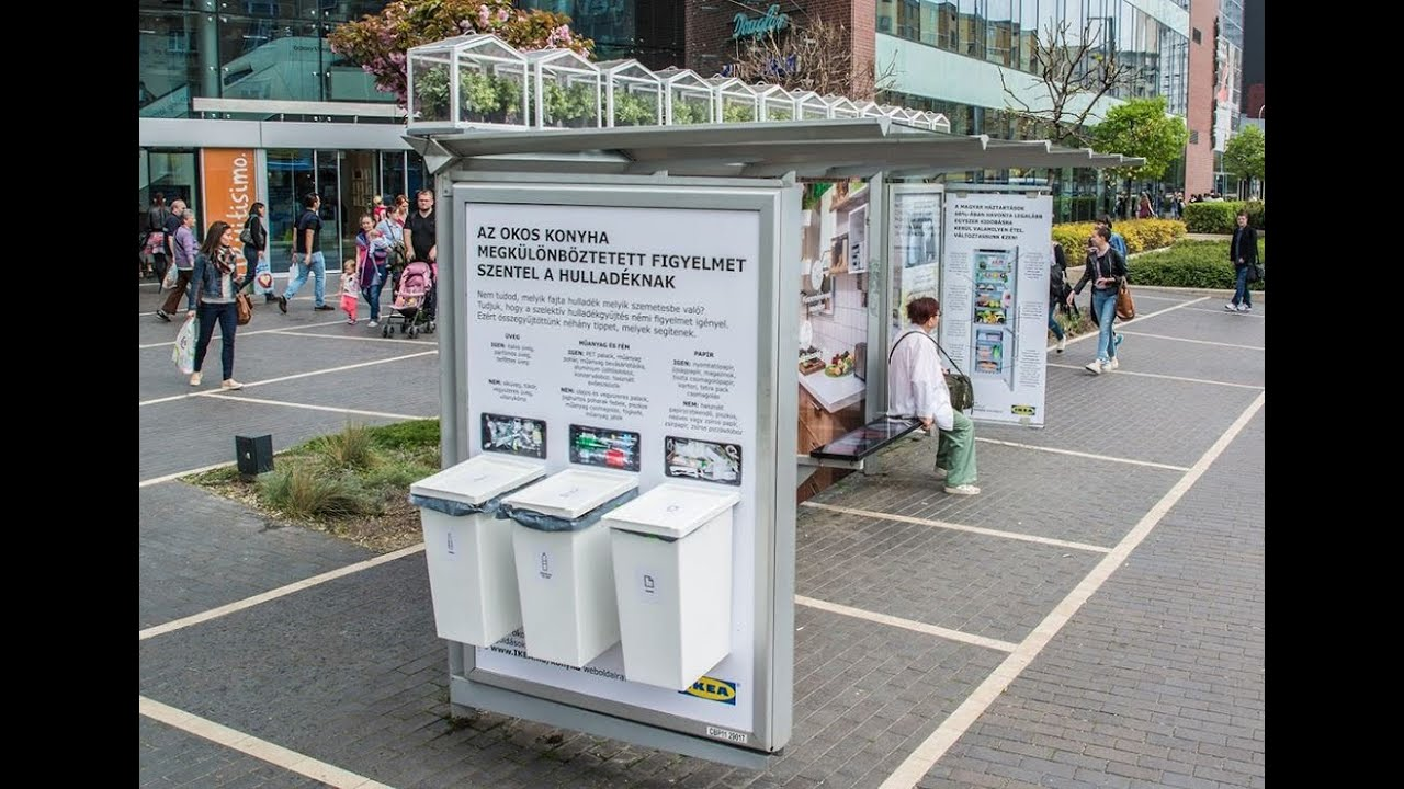 ikea goes green with a bus shelter in budapest jcdecaux hungary youtube. Black Bedroom Furniture Sets. Home Design Ideas