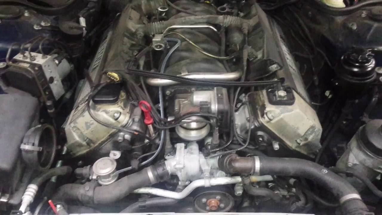 99 01 bmw e38 740 m62tu vanos 4 4l engine wire harness diagram youtube rh youtube com