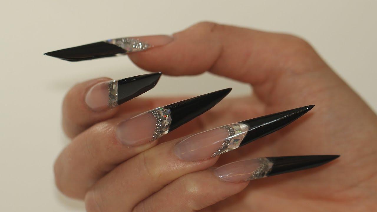 black gothic naildesign nothing but nails - YouTube
