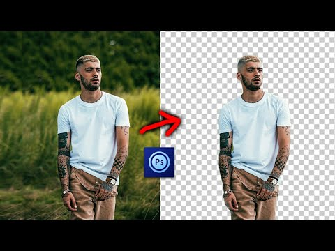 How To Remove Background In Mobile Adobe Photoshop / Background Eraser 2020