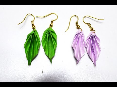 DIY Paper Earring   Origami Earrings✓Fashion   Accessories - YouTube   360x480