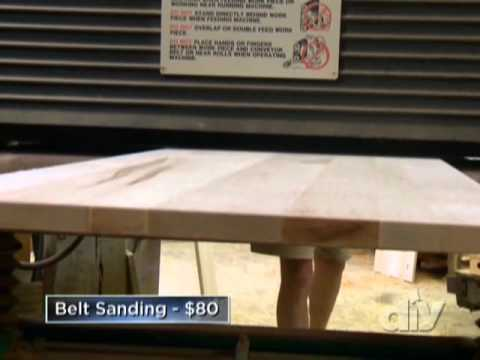 build kitchen table cabinetry diy butcher block countertop- network - youtube