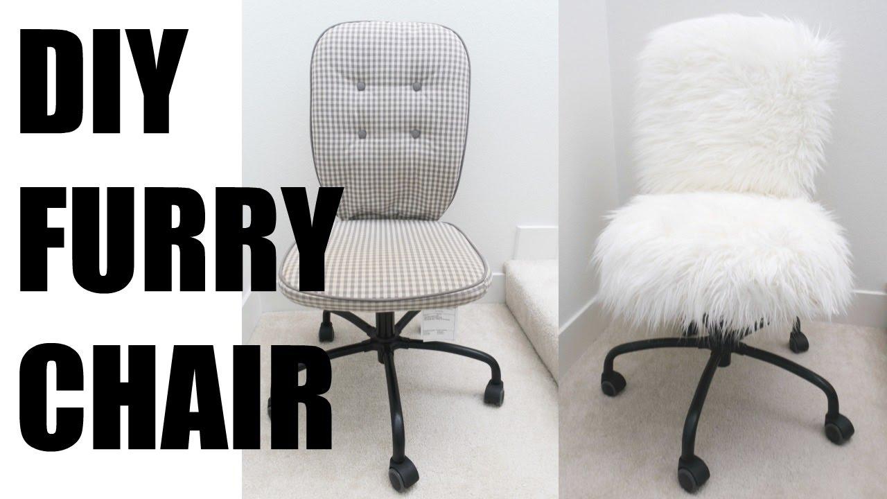 White Furry Desk Chair