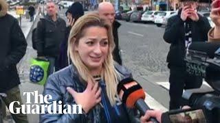 Witnesses describe moment man set himself alight in Prague
