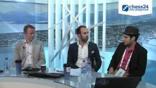 Elshan Moradiabadi drops by the Olympiad webcast - Round 9