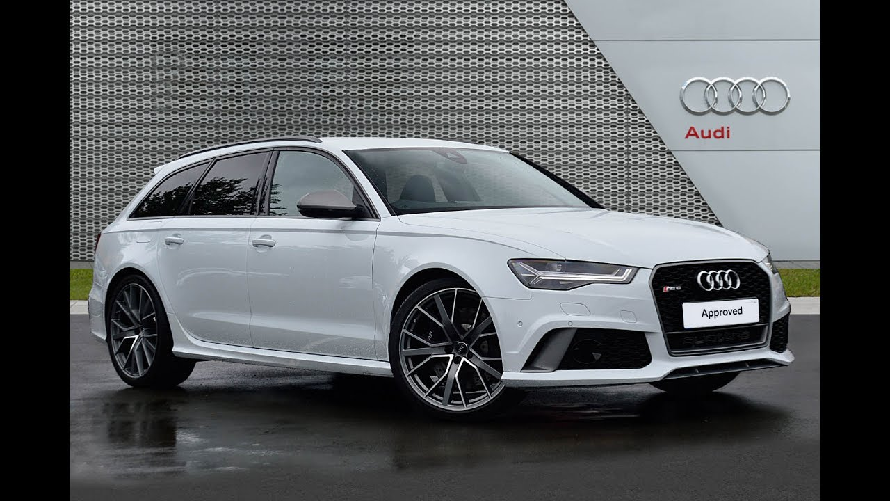 Audi a6 rs6 plus avant tfsi quattro white 2016 youtube for Lunghezza audi a6 avant 2016