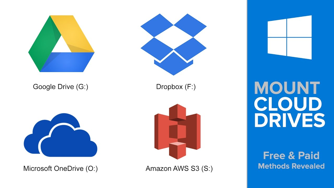 How to Mount Google Drive (Or Dropbox, Amazon Cloud/S3, OneDrive, etc ) As  a Drive in Windows
