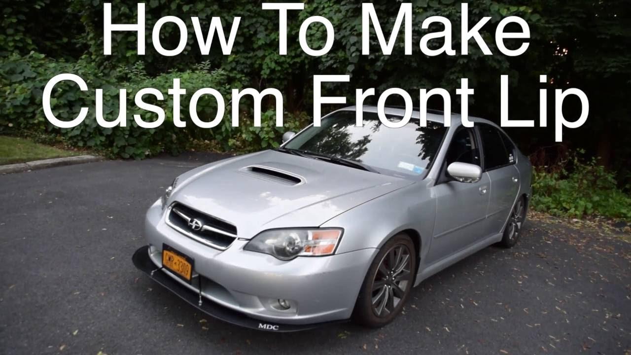 how to make custom front lip 05 subaru legacy gt youtube. Black Bedroom Furniture Sets. Home Design Ideas