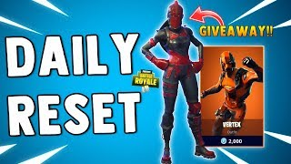 NEW VERTEX SKIN & RED KNIGHT SKIN GIVEAWAY - Fortnite Daily Reset & NEW Items in Item Shop