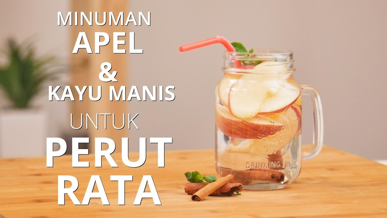 Infused Water Apel dan Kayu Manis