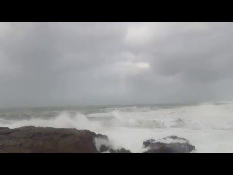 Tempête sur la côte sauvage  Saint Pierre Quiberon 13 février 2016