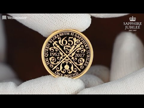 New Gold Proof Coin Marks The Queen's FIRST EVER Sapphire Jubilee