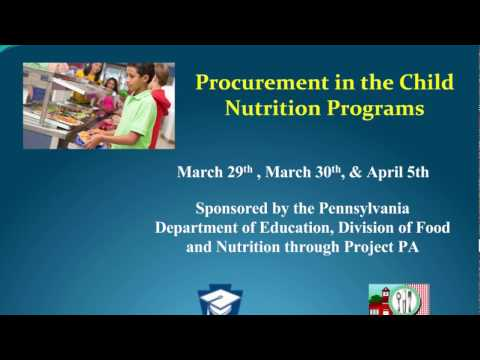 Procurement in the Child Nutrition Programs
