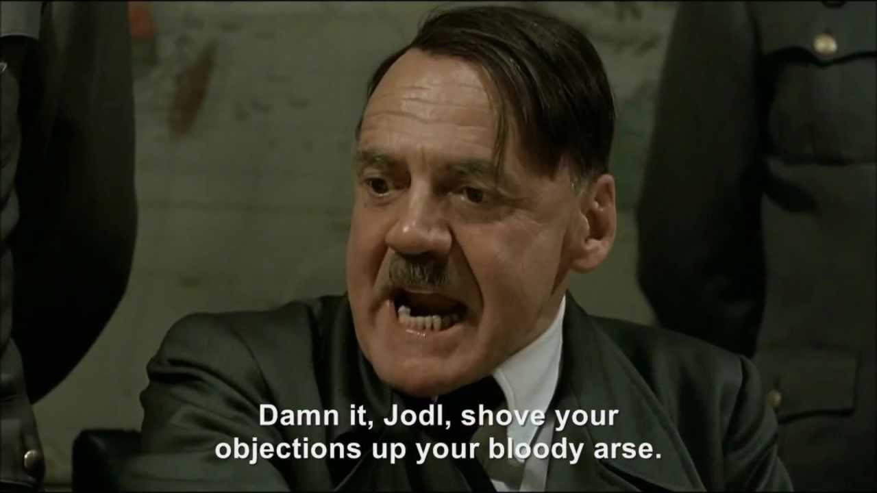 Hitler throws flour at President Hollande