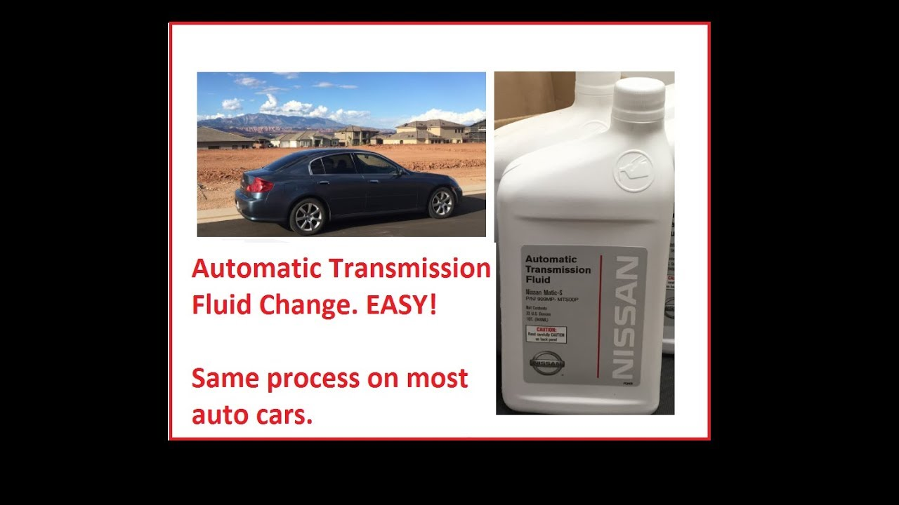 small resolution of automatic transmission fluid change shown on g35 350z same process on most cars skyline