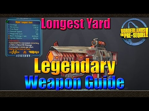 Borderlands The Pre Sequel | UVHM Legendary Weapon Guide | The Longest Yard Laser