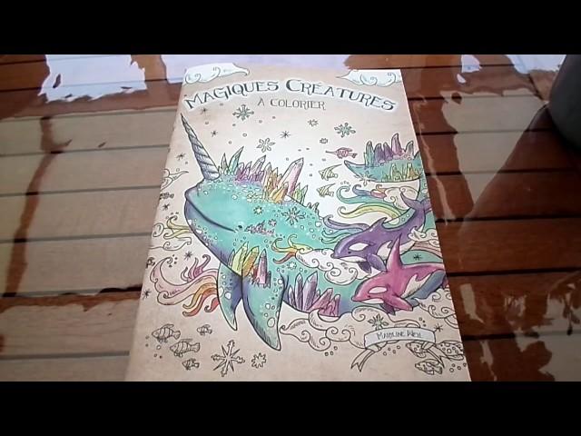 Présentation du livre: Magiques créatures à colorier