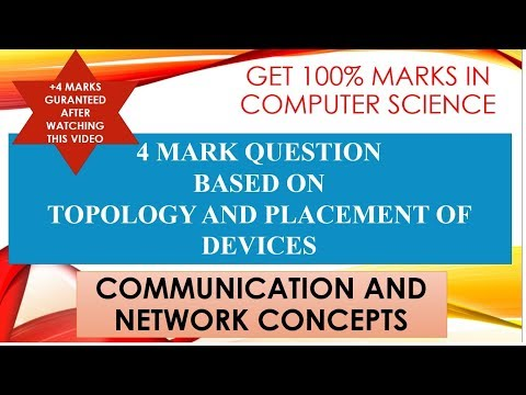 NETWORKING AND COMMUNICATION || VIDEO 1 || TOPOLOGY AND PLACEMENT OF DEVICES|| GET 100% MARKS IN CS