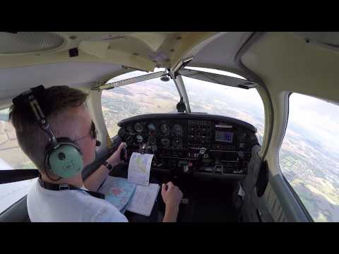 Long solo navigation training flight to Odense (EKOD) and Aarhus (EKAH)