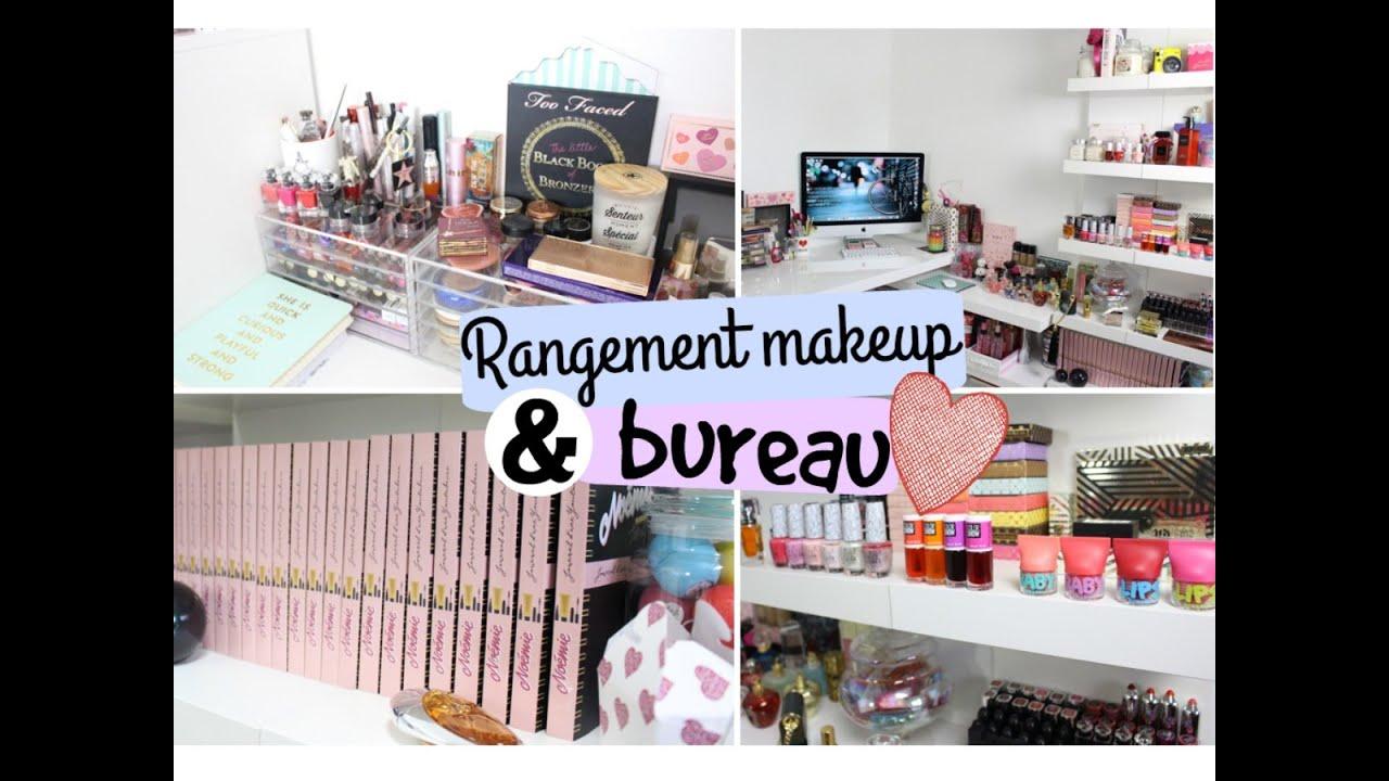Rangement maquillage bureau youtube