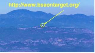Signal Mirror flashes at 31 miles - Elsinore Peak, Operation On-Target