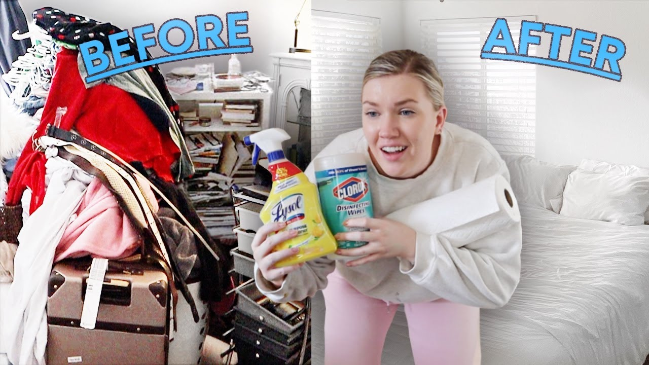 cleaning my disgusting childhood room *I got rid of everything* - download from YouTube for free