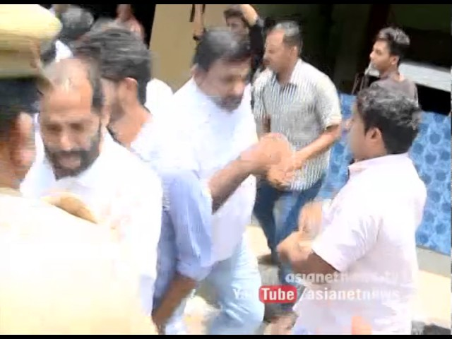 Youth Congress protest against MM Mani's controversial speech