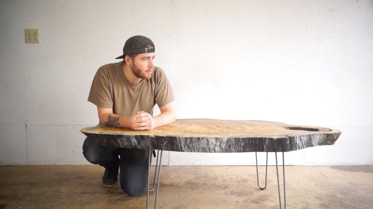 Modern Live Edge Coffee Table  Modern Builds  EP 24