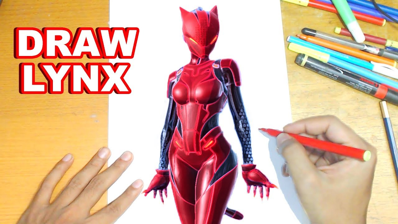 Fortnite Drawing Lynx How To Draw Lynx Step By Step Tutorial
