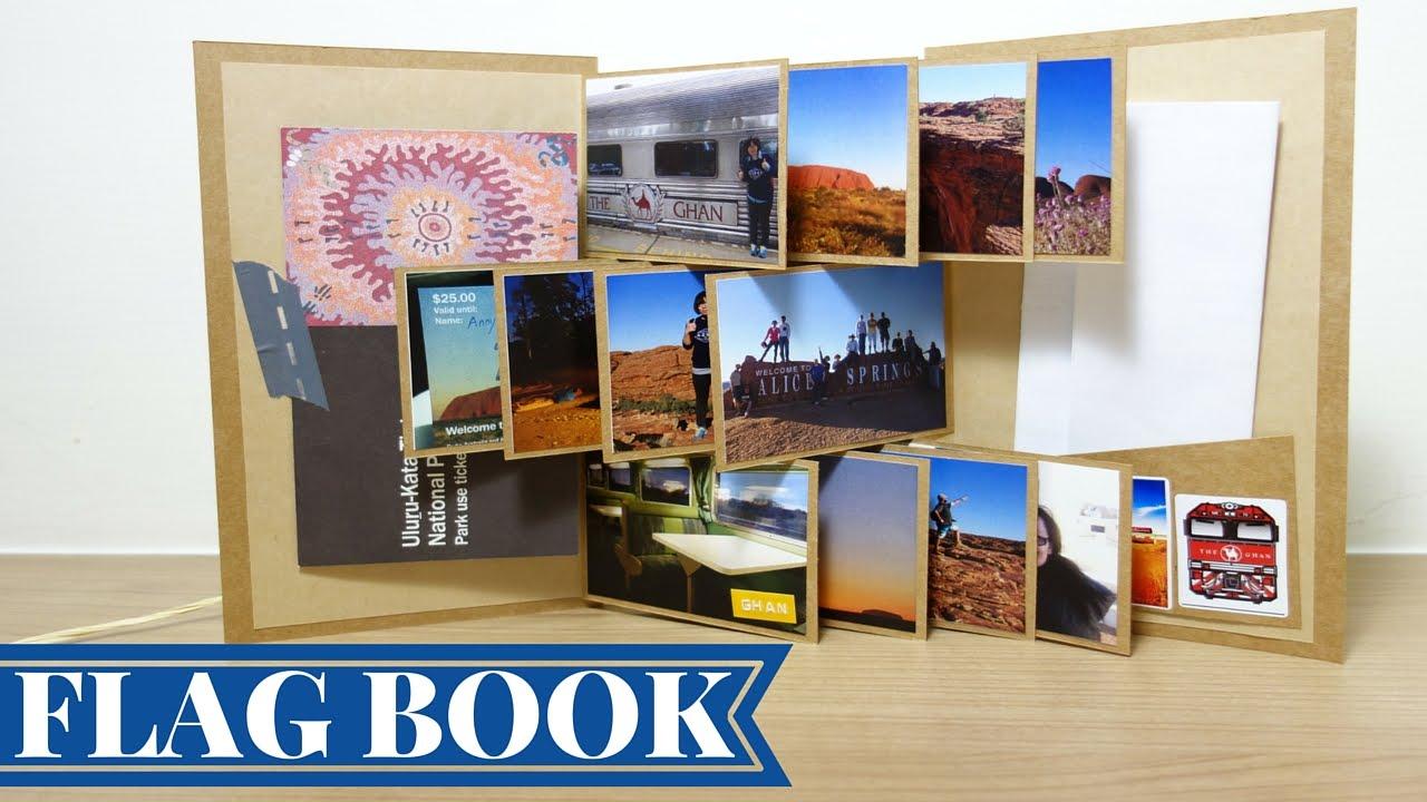 收藏回憶的小相冊----旗幟小書/ 攝影集, Flag book tutorial | 安妮,手作吧!