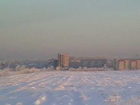 Город Никольское зимний вид