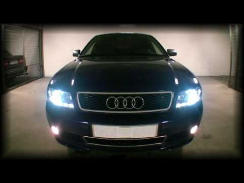 audi a4 b5 led xenon kit demonstration vol1 youtube. Black Bedroom Furniture Sets. Home Design Ideas