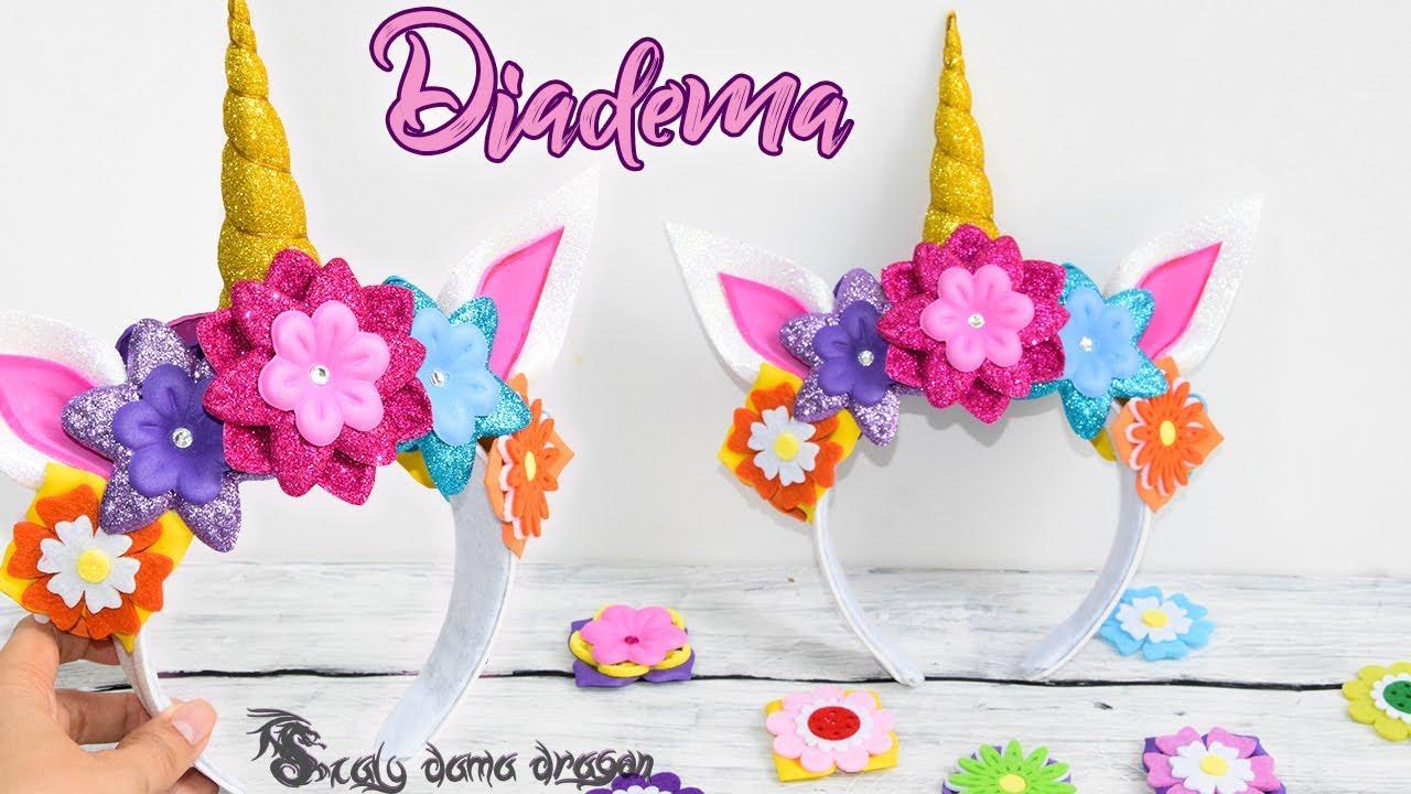 Diadema de Unicornio hecha en Foamy o Goma eva - YouTube
