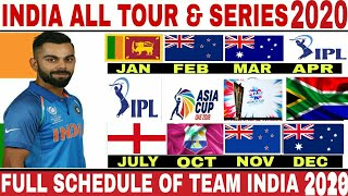 India Upcoming Series Schedule 2020 | 2020 indian Cricket Team All Series Schedule | Asia Cup |