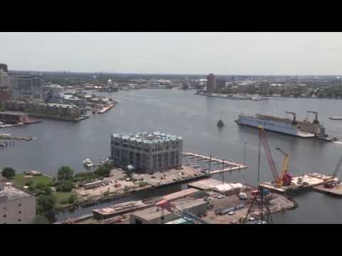 Large dry dock transport goes down the Elizabeth River Part 1