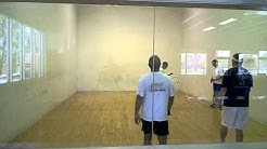 Jacksonville Fl. racquetball doubles pick up match Labor Day '11