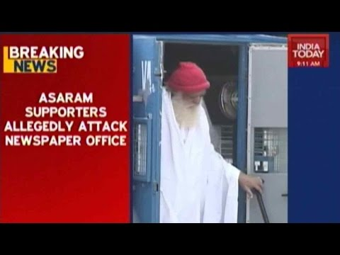 Asaram Supporters Allegedly Attack Newspaper Office In Agra