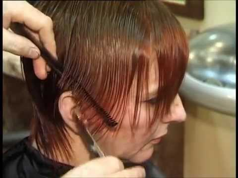 Short cuts from online hair school, hairdressing tutorial,  Part 1