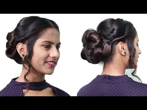 Quick Bridal Bun Hairstyle for parties//Indian wedding guest Hairstyle || Hair tutorial thumbnail