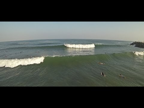Ashkelon Surf Dlela Beach with Go Pro 5-6/7/14 HD