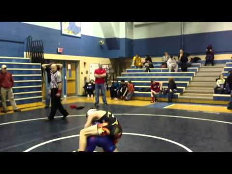 Austin Warman-Connellsville wrestling tournament-2013 Travel Video